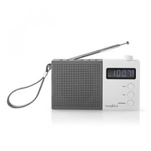Radio portabil FM Functie de ceas cu alarma 2.1W gri/alb, Nedis0