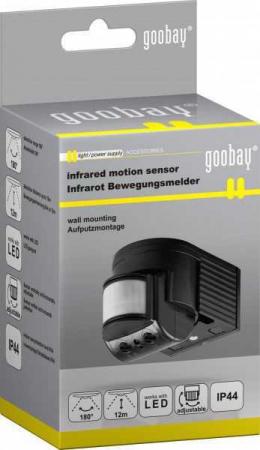 Senzor de miscare cu infrarosu pentru interior si exterior, Goobay [1]