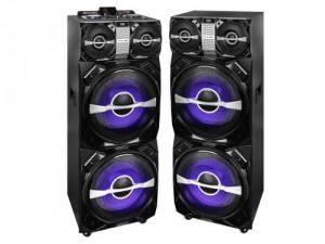 Set 2xBoxe portabile cu functie karaoke si amplificator, 600W, Trevi1