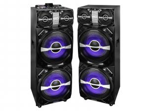 Set 2xBoxe portabile cu functie karaoke si amplificator, 600W, Trevi0