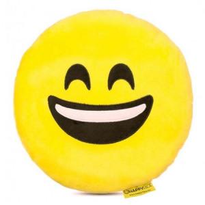Perna decorativa Emoji Smiley Happy Face, Textil, Galben0