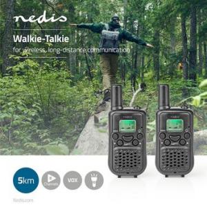 Statie emisie-receptie (Walkie Talkie) raza 5 km 8 canale negru Nedis [1]