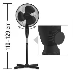 Ventilator Cu Picior Si Telecomanda, Diametru 43 Cm, Negru1