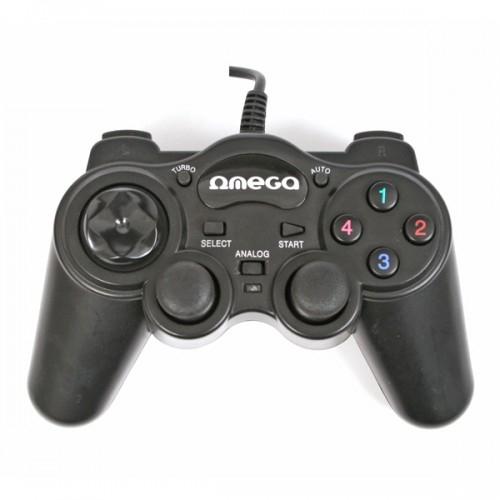 Gamepad USB PC Interceptor, neagra, Omega