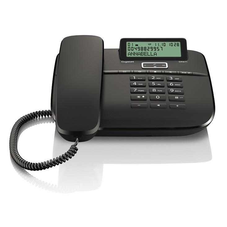 Telefon fix analogic Gigaset DA611 negru