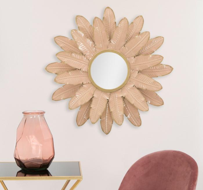 Oglinda Decorativa din metal Glam Rosa [0]