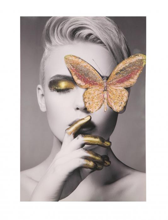 Pictura pe panza cu aplicatii Butterfly [1]