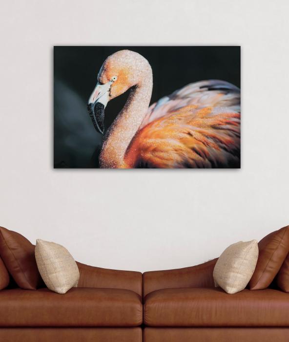 Pictura pe panza Flamingo Dark [1]