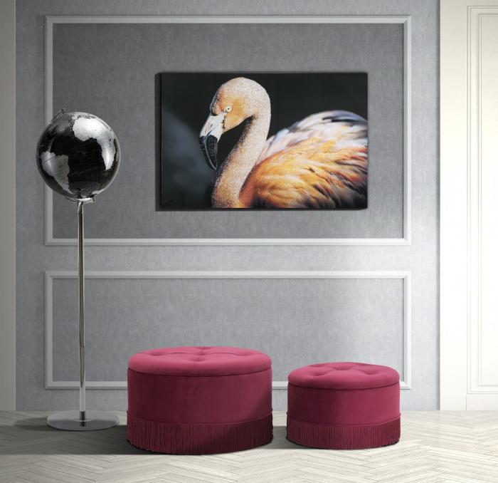Pictura pe panza Flamingo Dark [0]
