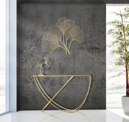 Decoratiune de perete din metal Glam Leaf [0]