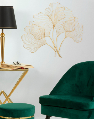 Decoratiune de perete din metal Glam Leaf [5]