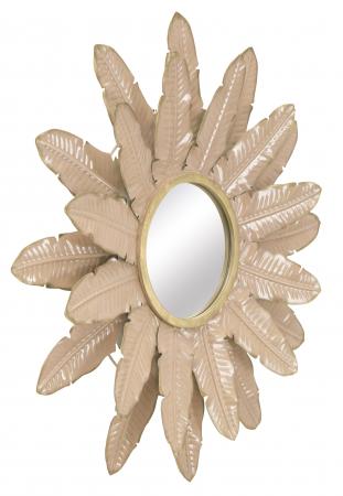 Oglinda Decorativa din metal Glam Rosa [2]