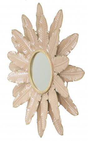 Oglinda Decorativa din metal Glam Rosa [3]