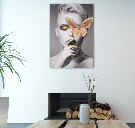 Pictura pe panza cu aplicatii Butterfly [0]