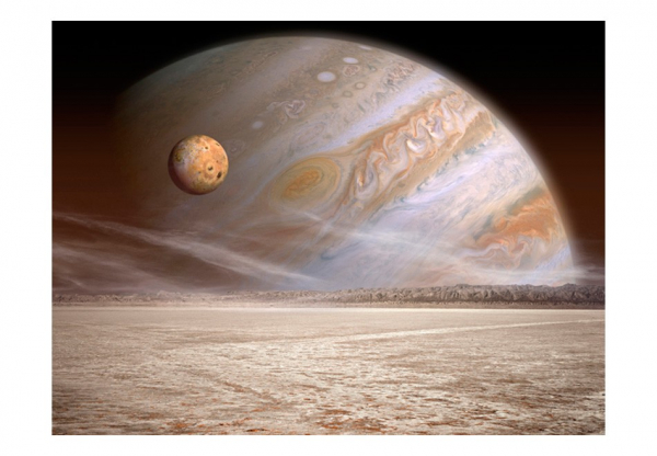 Fototapet - A small and a big planet 3
