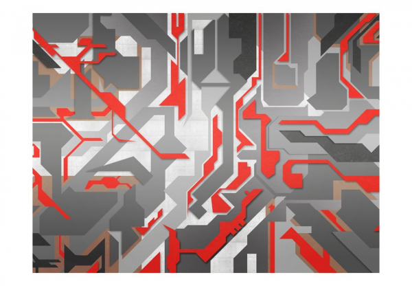 Fototapet - Abstract geometric paths 3