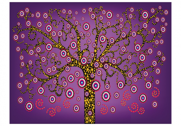 Fototapet - abstract: tree (violet) [3]