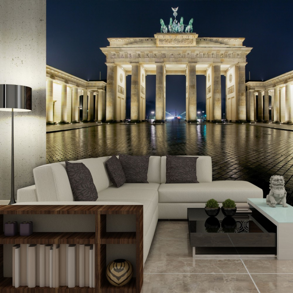 Fototapet - Brandenburg Gate at night 0