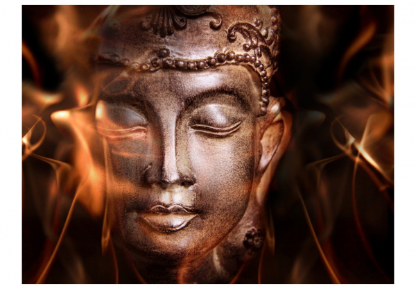 Fototapet - Buddha. Fire of meditation. 3
