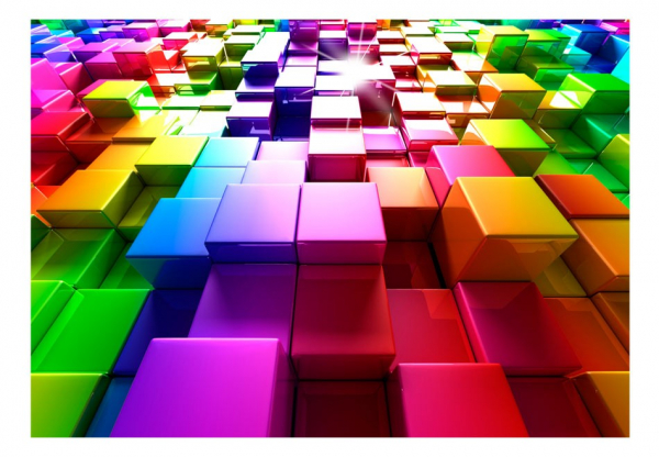 Fototapet - Colored Cubes 3