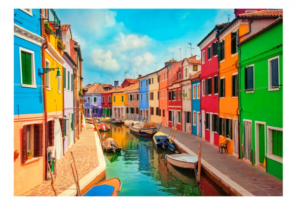 Fototapet -  Colorful Canal in Burano 3
