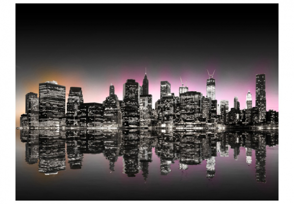 Fototapet - Colorful glow over NYC 3