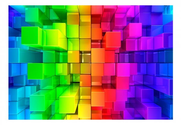 Fototapet - Colour jigsaw 3