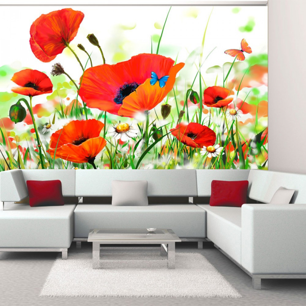 Fototapet - Country poppies 0