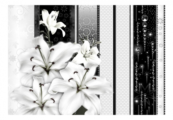Fototapet - Crying lilies in white 3