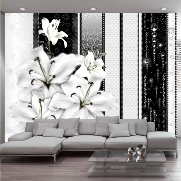 Fototapet - Crying lilies in white 0