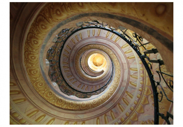Fototapet - Decorative spiral stairs 3
