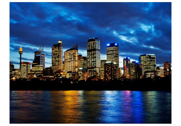 Fototapet - Evening clouds over Sydney 3