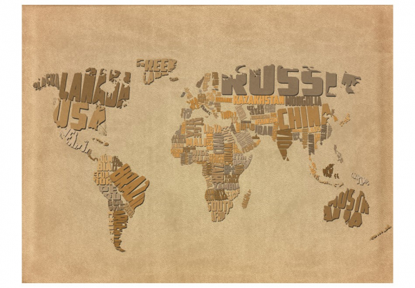 Fototapet - Explorers' map of the World 3