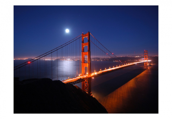 Fototapet - Golden Gate Bridge at night 3