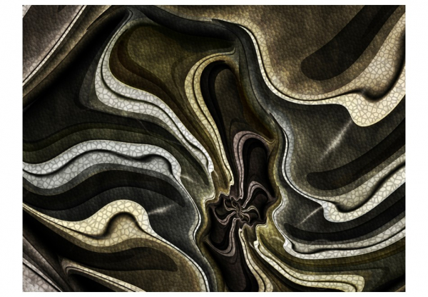 Fototapet - Green and brown textured fractal 3