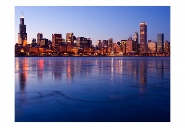 Fototapet - Icy Downtown Chicago 3