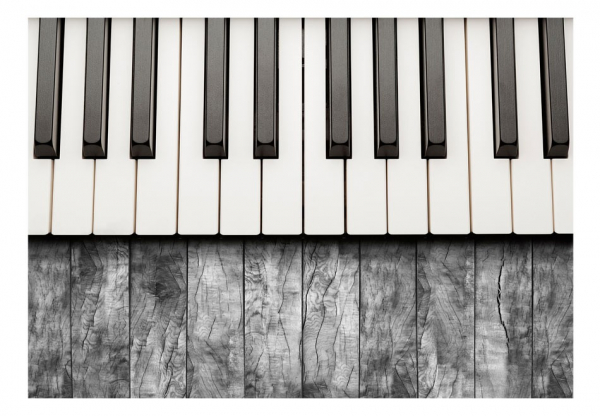 Fototapet - Inspired by Chopin - grey wood [3]