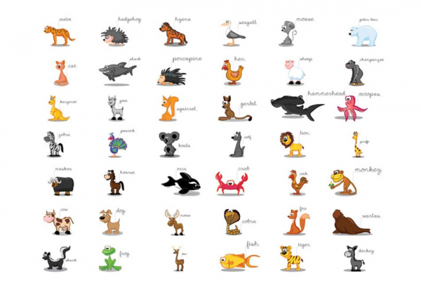 Fototapet - Learning by playing (animals) 3