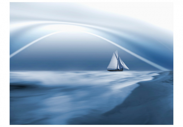 Fototapet - Lonely sail drifting 3