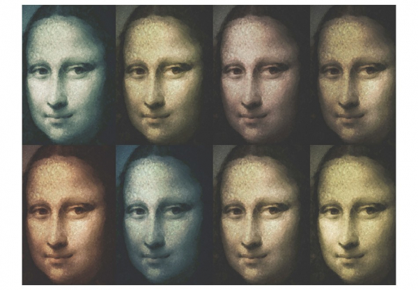Fototapet - Mona Lisa (pop art) 3