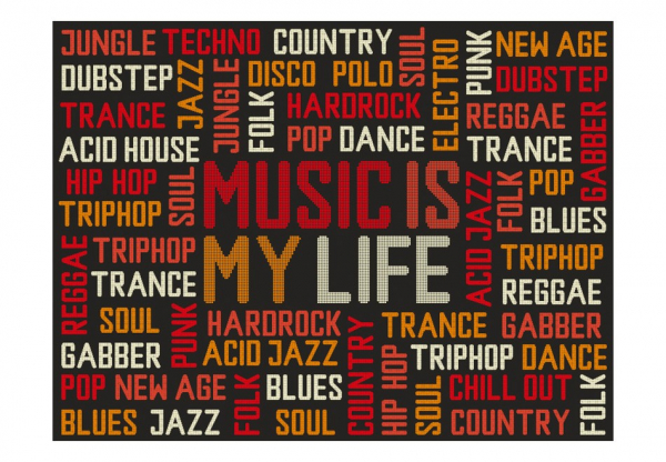 Fototapet - Music is my life 3