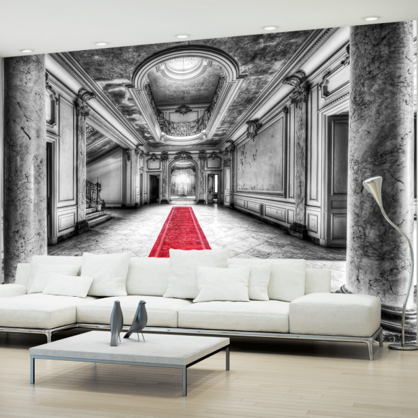 Fototapet - Mystery marble - black and white 0