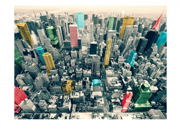 Fototapet - New York's colorful reflections 3