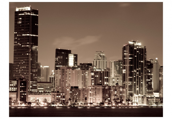 Fototapet - Night life in Miami 3