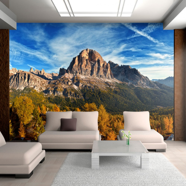 Fototapet - Panoramic view of Italian Dolomites 0