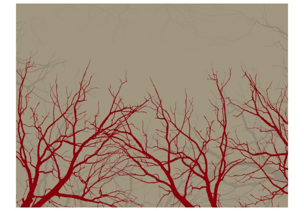 Fototapet - Red-hot branches [3]