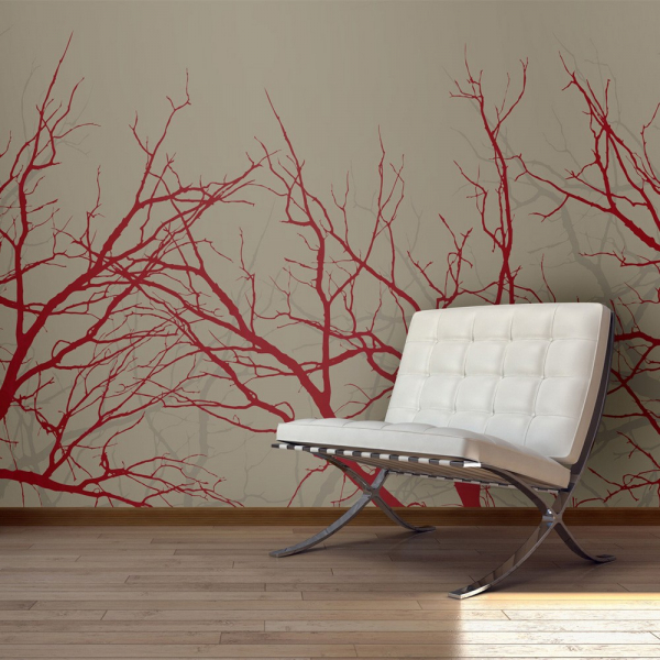 Fototapet - Red-hot branches [0]