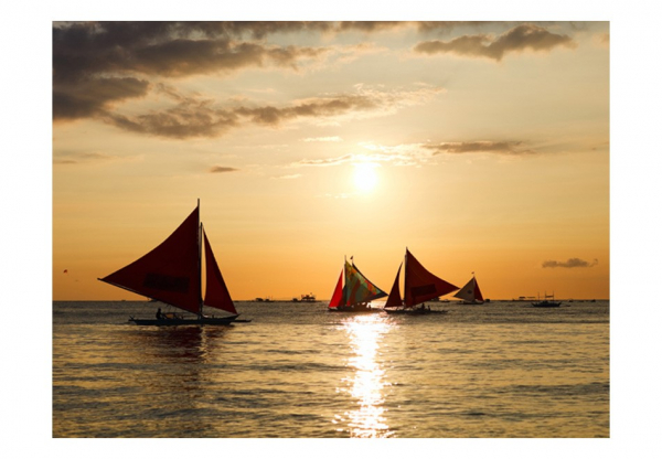 Fototapet - sailing boats - sunset 3