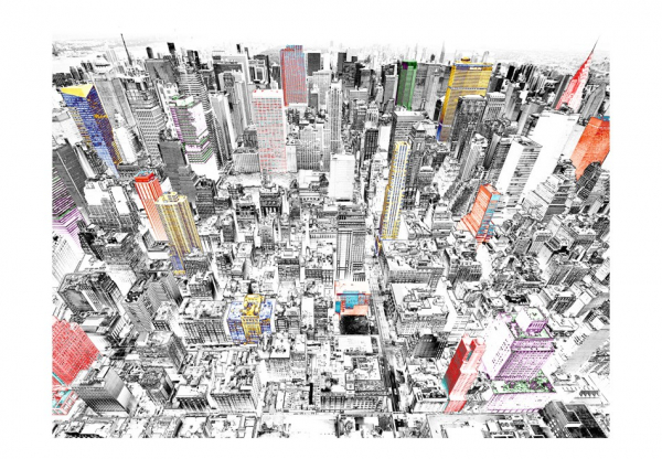Fototapet - Sketch of New York 3