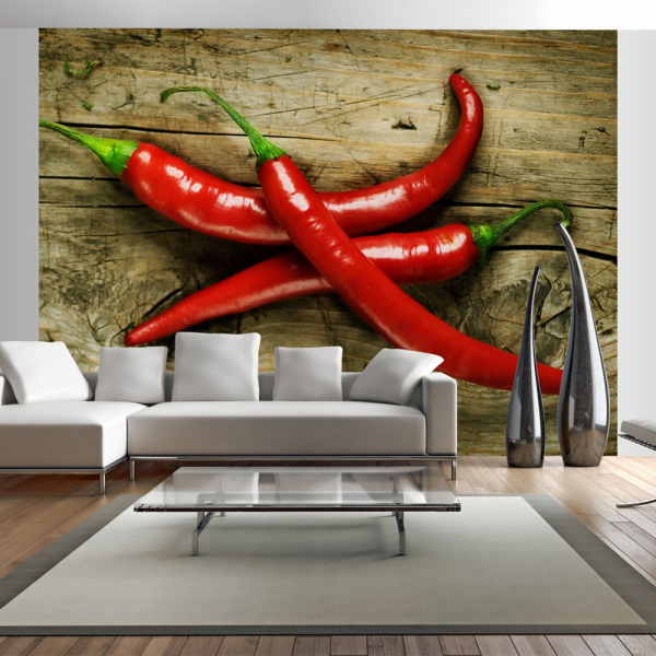 Fototapet - Spicy chili peppers 0
